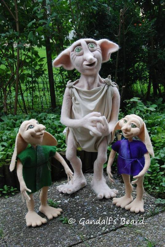 Harry Potter inspired house elves