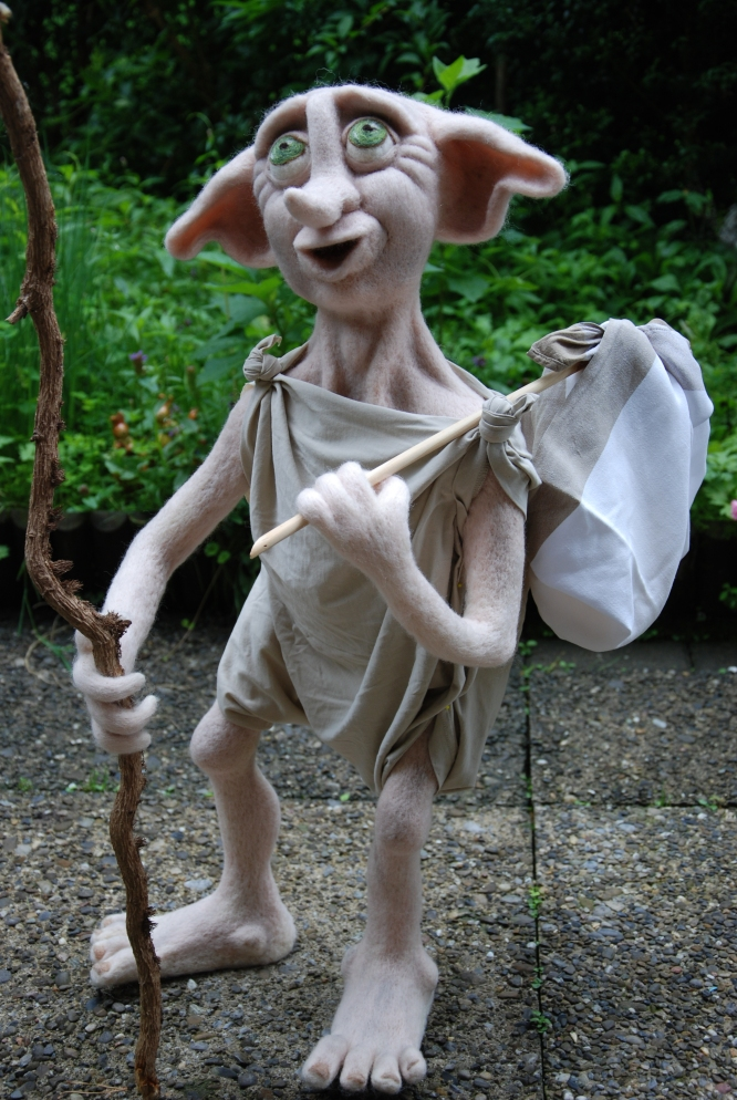 needle felted dobby house elf