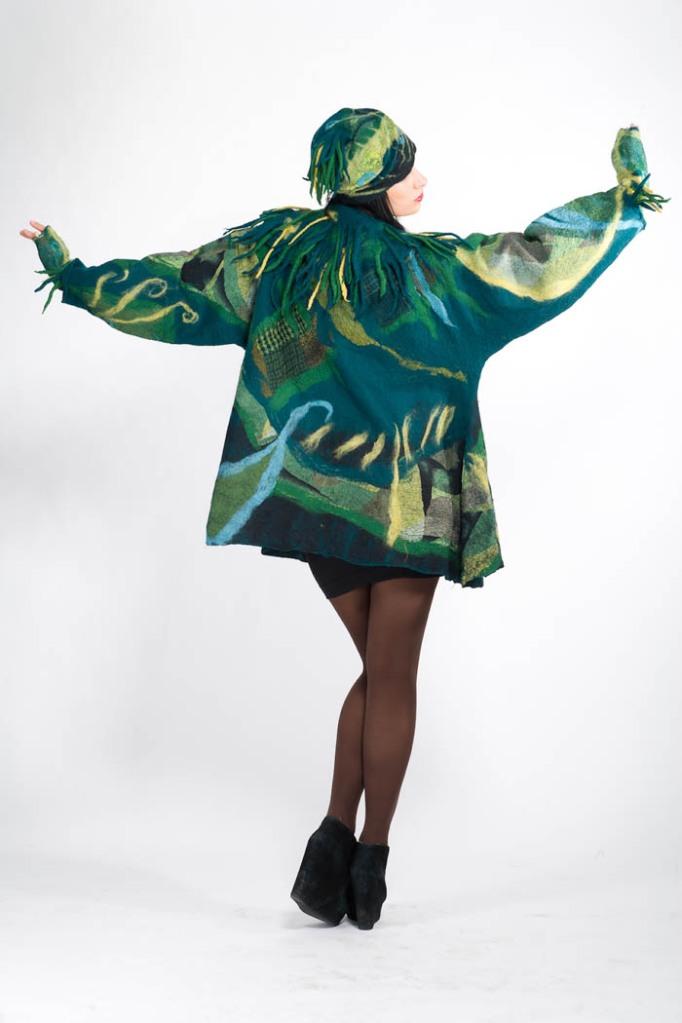 Felted Green coat