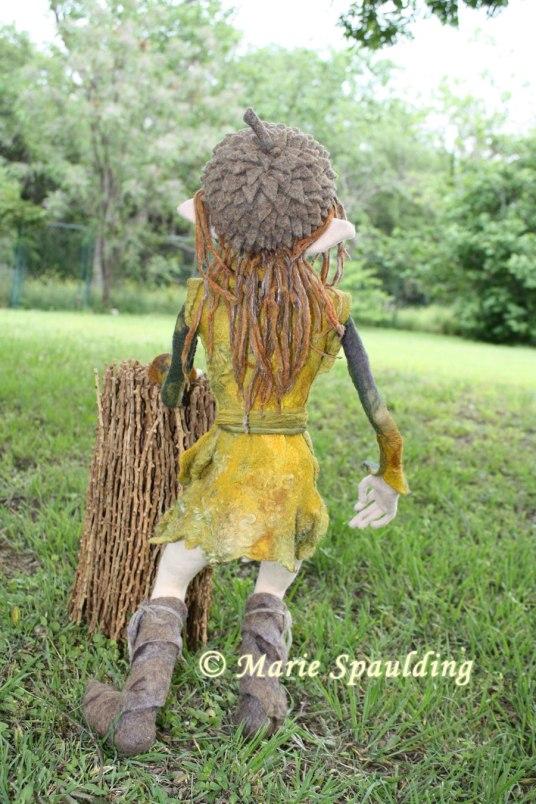 Needle felted elf  by Marie Spaulding