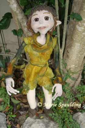 Needle felted elf doll by Marie Spaulding