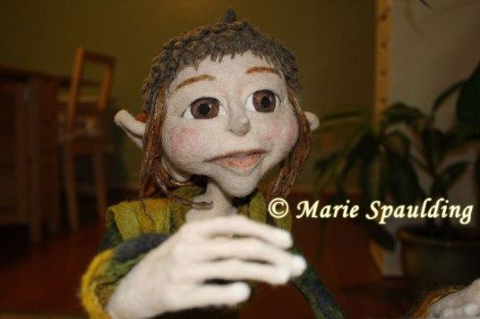 Needle felted elf doll by Marie Spaulding