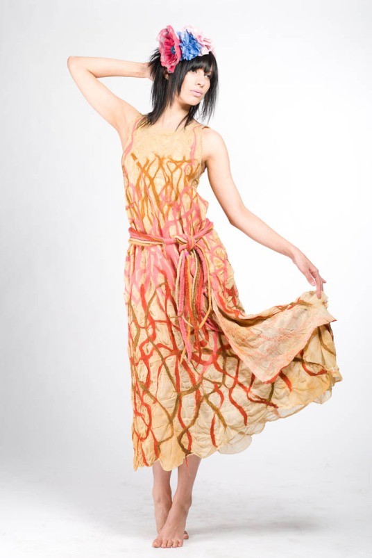 Nuno Felted, Sunrise T Dress, Barbara Poole