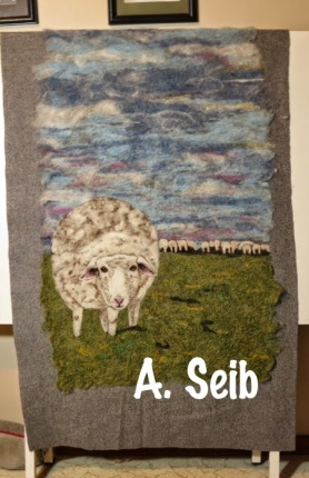 Felting Wall hangings, Felted Paintings by Arlette Seib and featured on www.livingfelt.com/blog