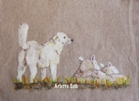 Needle Felting Pictures and Wall Hangings with Arlette Seib. Featured on www.livingfelt.com/blog
