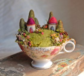 Waldorf Inspired Felted Garden by Ginger Little Featured on  www.livingfelt.com/blog