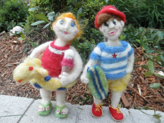 Needle Felted dolls 4th of July Parade