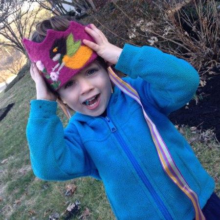 Waldorf Felted Crown for Children by Sonja Weeks Oswalt featured on Living Felt blog