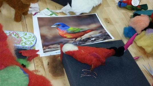 Felting Birds Workshop with Jennifer Field at Living Felt http://feltingsupplies.livingfelt.com