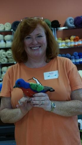 Felting bird workshop with Jennifer Field at Living Felt http://feltingsupplies.livingfelt.com
