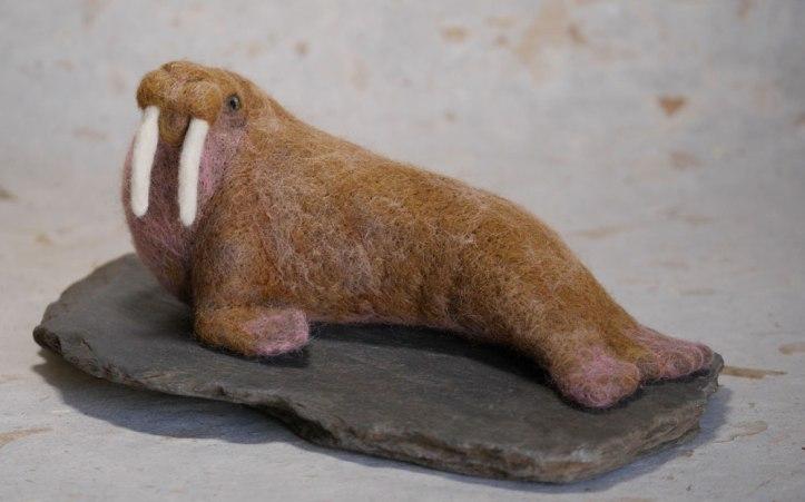 needle felted animal Sea lion