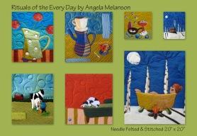 Angela Melanson Lala & Gleen Needle Felted Art Featured on www.livingfelt.com/blog