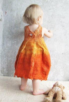 Lena Baymut Felted Baby Dress Featured on www.livingfelt.com/blog