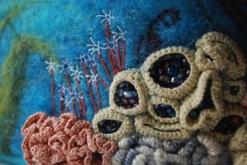 Ingridi Kasitooblogi Felt Aquarium Mixed Media www.livingfelt.com/blog