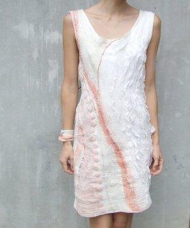 Lena Baymut Nuno Felted Dress, Featured on www.livingfelt.com/blog
