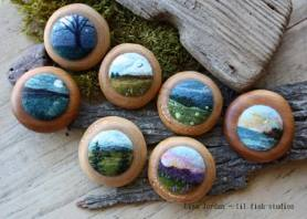 Miniature Felted Landscapes by Lisa Jordan of Lil Fish Studios on www.livingfelt.com/blog