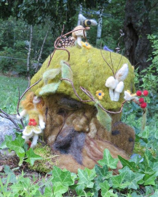 Theresa LaBrecque Felted Fairy House on www.livingfelt.com/blog