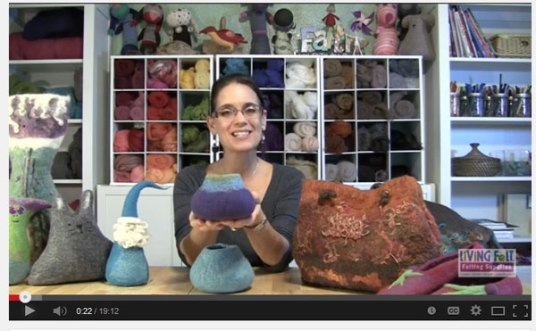 Wet Felting Tutorial: Felting Over a Resist on www.livingfelt.com/blog