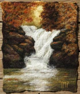 Wet Felted Painting by Tracey McCracken Palmer featured on www.livingfelt.com/blog