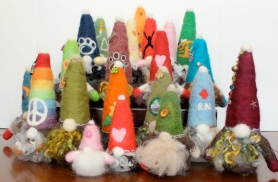 Needle Felted Gnome Villiage
