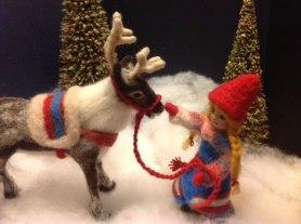 Julie King Felted Reindeer on www.livingfelt.com/blog