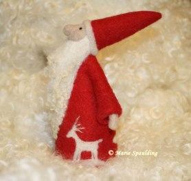 Needle Felted Nordic Santa by Marie Spaulding on www.livingfelt.com/blog