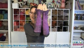 Wet felting wrist warmers free tutorial