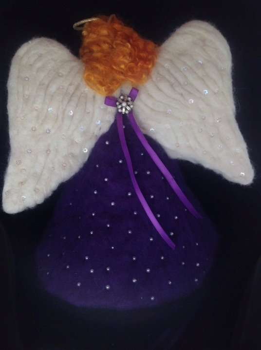Felted Angel Tree Topper by Kathleen-Dodge-Dehaven on www.livingfelt.com/blog