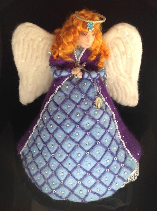 Felted Angel Tree Topper by Kathleen-Dodge-Dehaven on www.livingfelt.com/blog