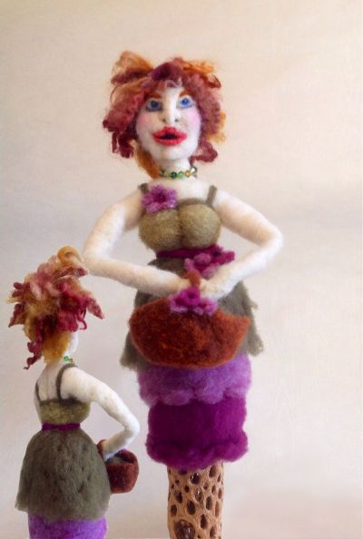 Needle Felted Doll Fashionista by Bo Lacombe on www.livingfelt.com/blog