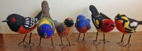 Laurie-Paulik realistic needle felted birds on www.livingfelt.com/blog