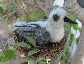Needle felted bird by Sheryl Smith, on www.livingfelt.com/blog
