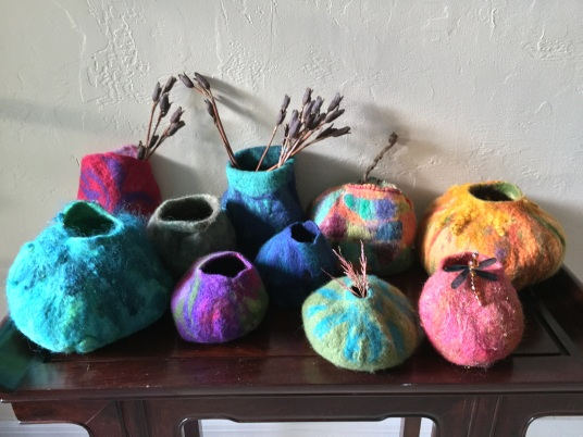 Wet Felted Vessels by Cami Smith, from Living Felt Tutorial  http://livingfelt.com/feltingvideos.html
