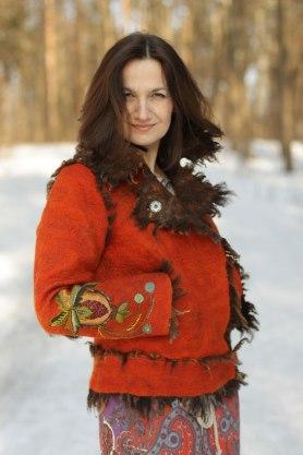 Russian Masters Felt Crows Nest, Lubov Veronina featured on www.LivingFelt.com/blog