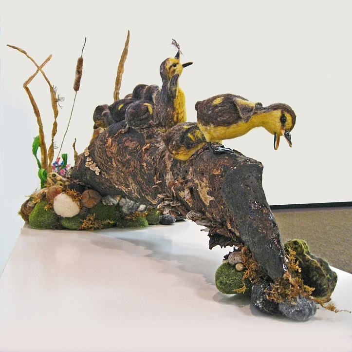Judy Titche Needle Felted Animals Ducklings Turtle on www.livingfelt.com/blog