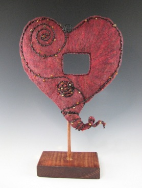 Felted Heart by Julia Maudlin on www.livingfelt.com/blog
