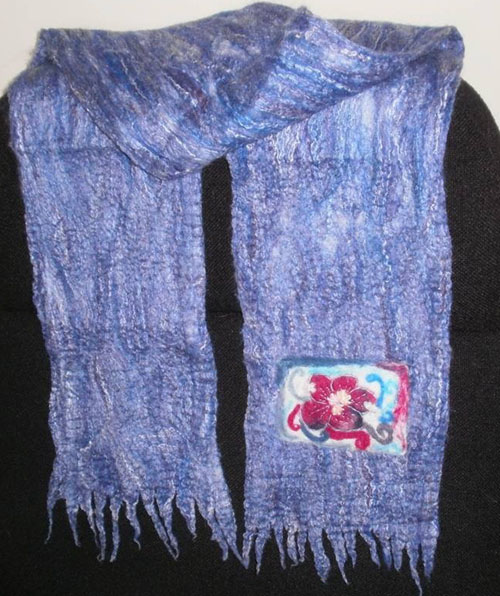 Kristin Morrill nuno felt scarf on www.livingfelt.com/blog
