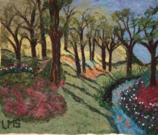 Felted Picture: Spring Along the Creek