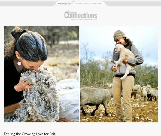 Living Felt founder Marie Spaulding Sourcing Mohair Locks from USA Farm www.livingfelt.com/blog