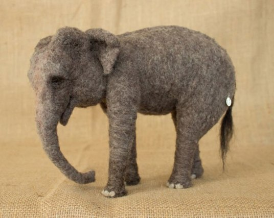 Megan Nedds Realistic Needle Felted Animals - Elephant from www.livingfelt.com/blog