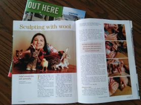 Megan Nedds of The Woolen Wagon in OUT HERE Magazine [from www.livingfelt.com/blog]