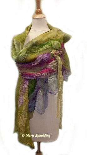 Nuno Felt Shawl - Scarf - Wrap by Marie Spaulding on www.livingfelt.com/blog