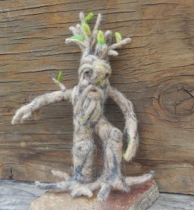Needle Felted Ent Tree Herder by Kristin Johnson-Ray on www.livingfelt.com/blog