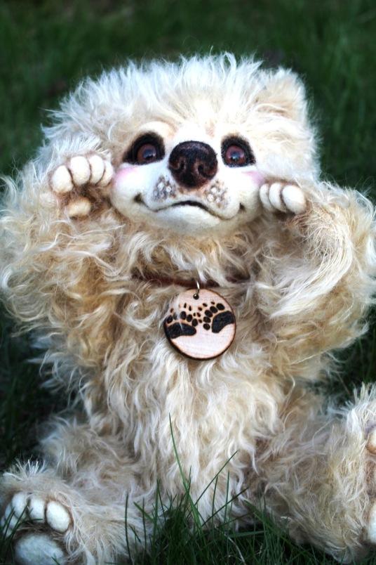 Needle Felted White Bear Luxembear