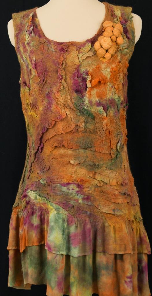 nuno felt dress by Kathy Hays see ebook at www.livingfelt.com/blog