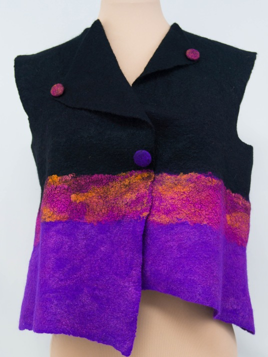 felted vest by Kathy Hays on www.livingfelt.com/blog