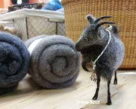 Needle Felted Goat By Tessa Bold, used Living Felt MC-1 Felting Batts