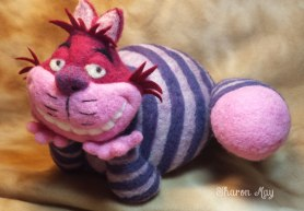 Cheshire Cat by Sharon May on www.livingfelt.com/blog