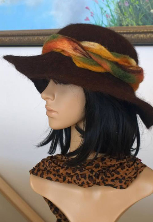 Needle Felted Hat by Evelyn Pinney