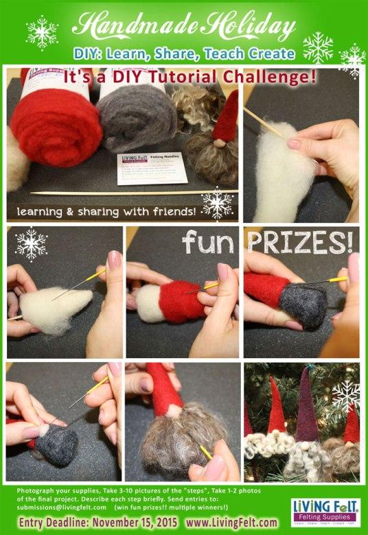 DIY Felting and Needle Tutorial Challenge @ LIVING FELT
